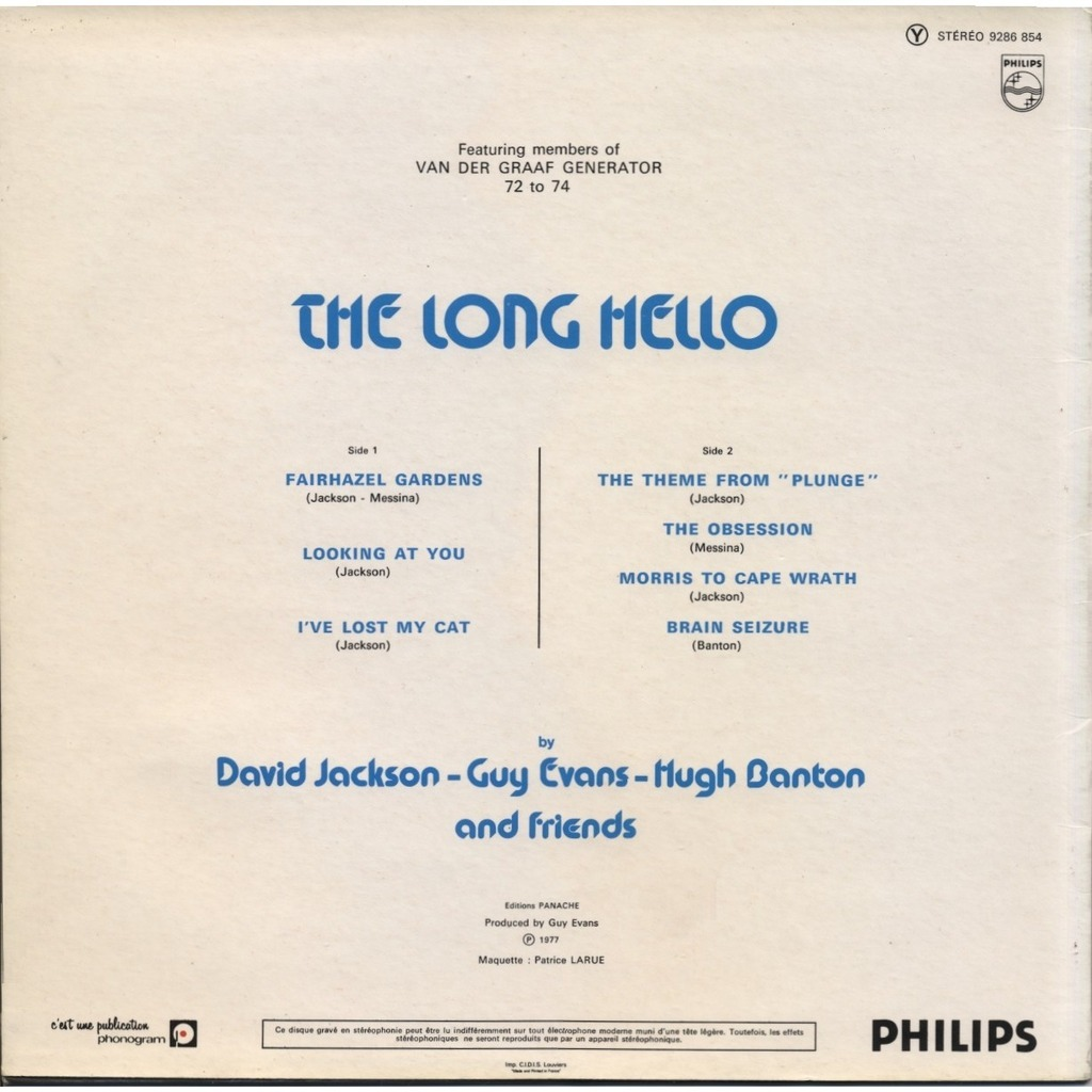 The Long Hello (featuring members of Van Der Graaf Generator 72 to 74 ...