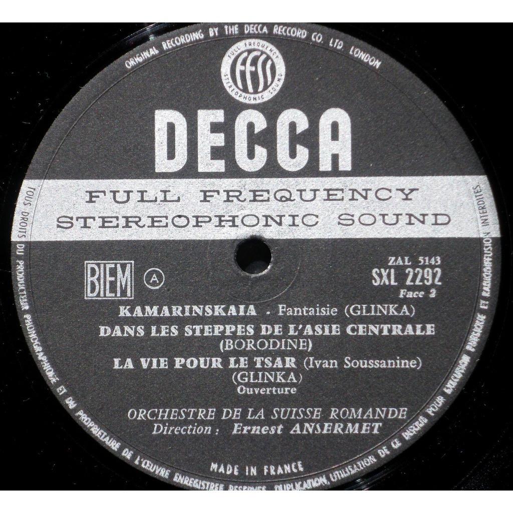Prokofiev : symphonie classique - borodine - glinka - ansermet - decca  france sxl 2292 by Prokofiev Symphonie Classique Ansermet, LP 180-220 gr  with ...